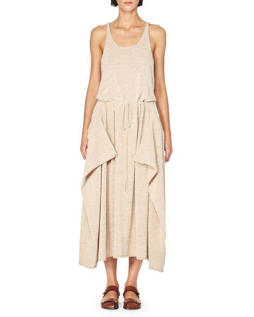 Stella McCartney | Pink Sleeveless Knit Drawstring Midi Dress | Lyst
