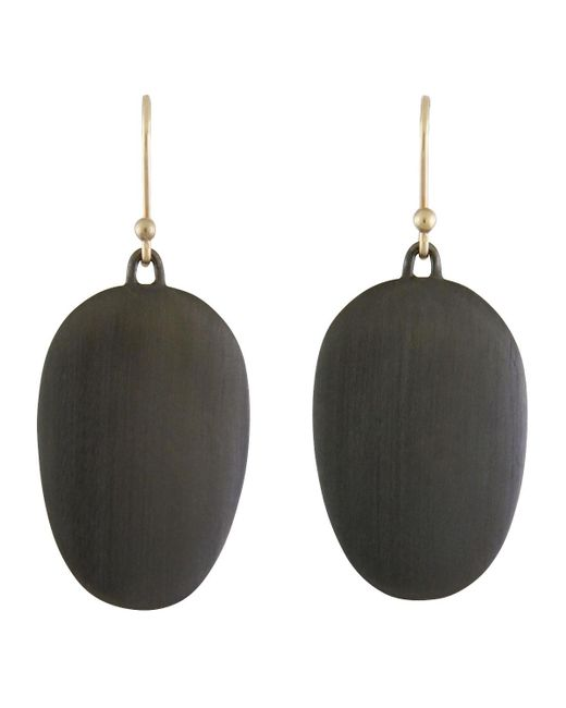 Ted Muehling   Multicolor Large Brushed Gunmetal Chip Earrings   Lyst