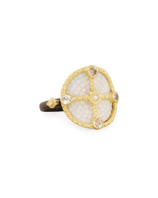 Armenta - Metallic Old World Mosaic Shield Ring With Diamonds & Sapphires - Lyst