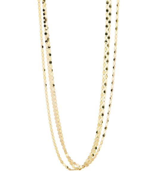 Lana Jewelry - Metallic Bond Short Nude Three-strand Necklace - Lyst