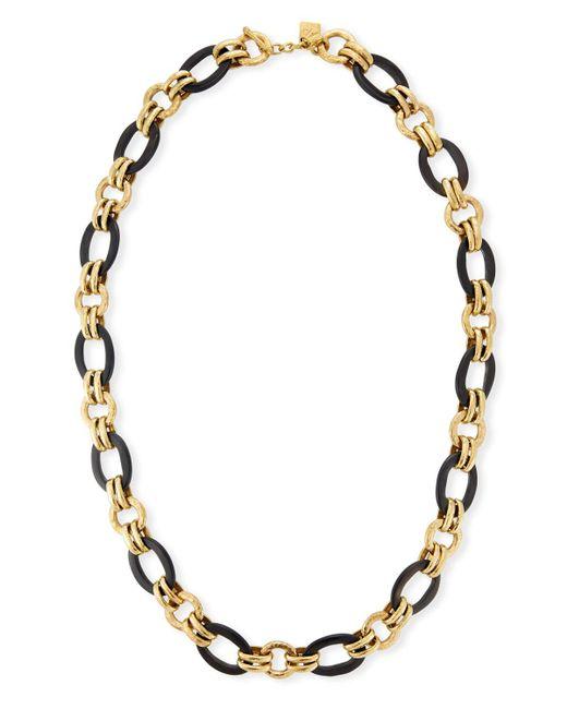 Ashley Pittman   Brown Ikulu Dark Horn & Bronze Chain Necklace   Lyst