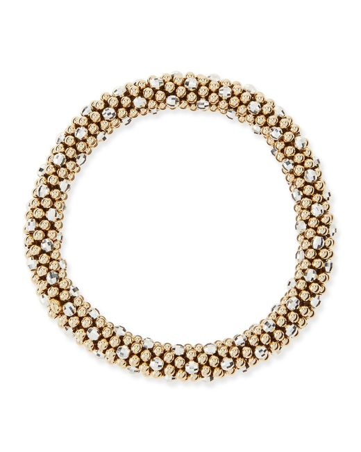 Meredith Frederick | Metallic Beth 14-karat Gold And Silver Bead Bracelet | Lyst