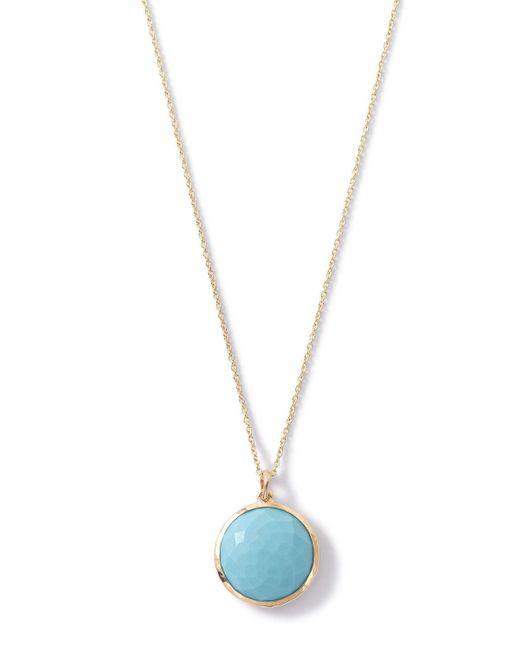 Ippolita - Blue 18k Lollipop Medium Round Pendant Necklace - Lyst