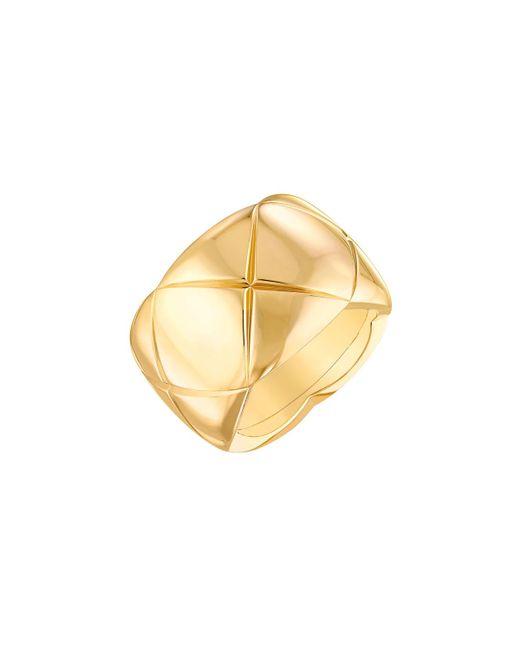 Chanel | Metallic Coco Crush Ring In 18k Yellow Gold | Lyst