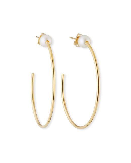 Vita Fede - Metallic Sfera Pearl Hoop Earrings - Lyst