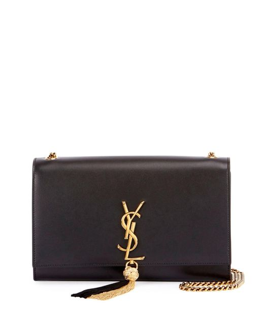 Saint Laurent | Black Monogram Kate Medium Tassel Shoulder Bag | Lyst