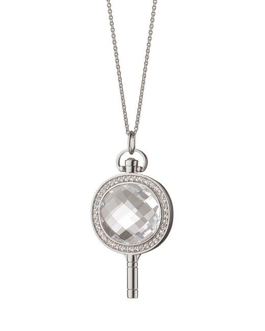 Monica Rich Kosann - Metallic Oval Pave Key Necklace - Lyst
