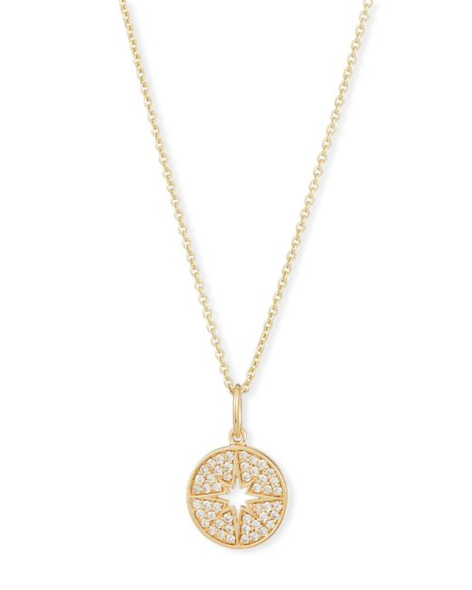 Sydney Evan - Metallic Anniversary Small Starburst Medallion Necklace With Diamonds - Lyst