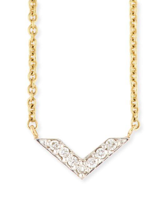 Sydney Evan - Metallic Two-tone Diamond Chevron Necklace - Lyst