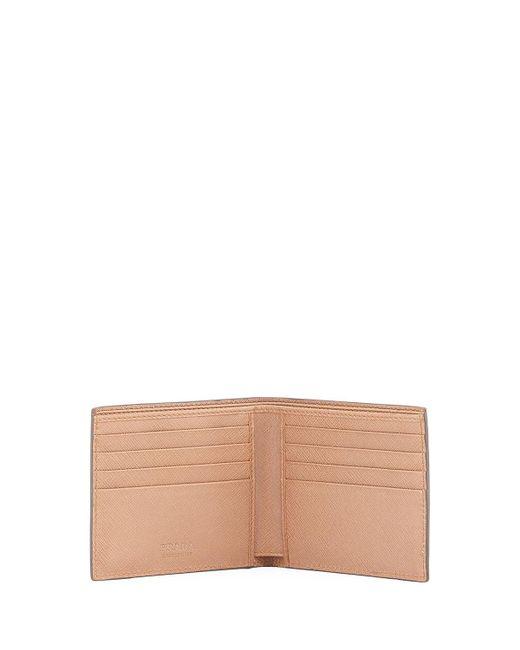 c3ec002cf75c88 ... Prada - Blue Saffiano Leather Bi-fold Wallet for Men - Lyst