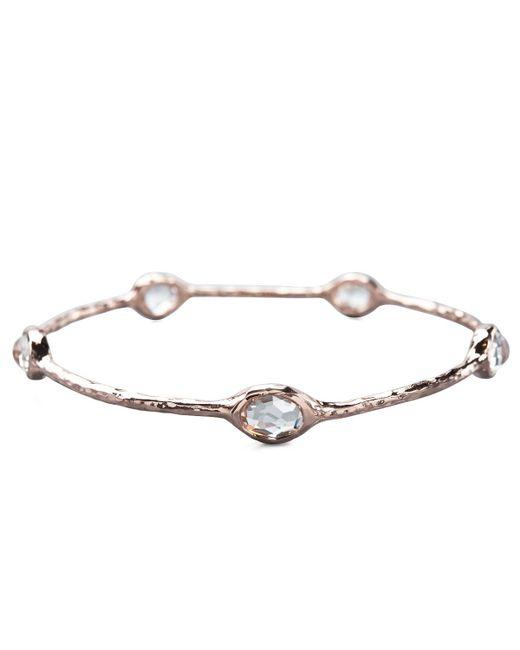 Ippolita | Pink Five-stone Rose Bangle | Lyst