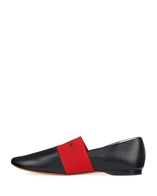 Givenchy - Bedford Black And Red Flats - Lyst