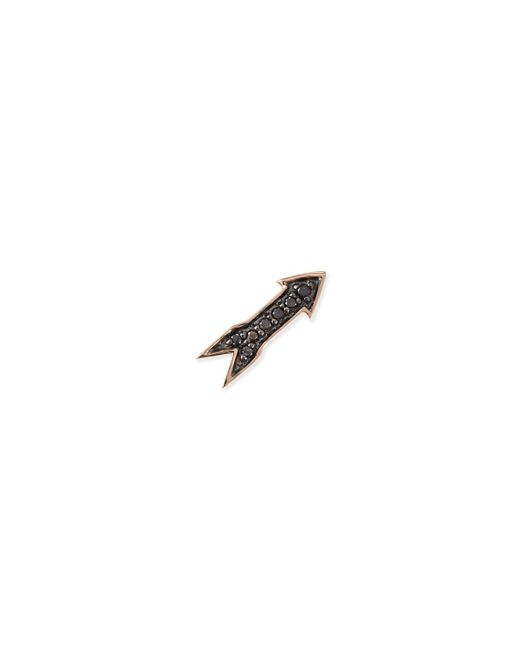 Sydney Evan | Pink 14k Rose Gold Black Diamond Arrow Single Stud Earring | Lyst