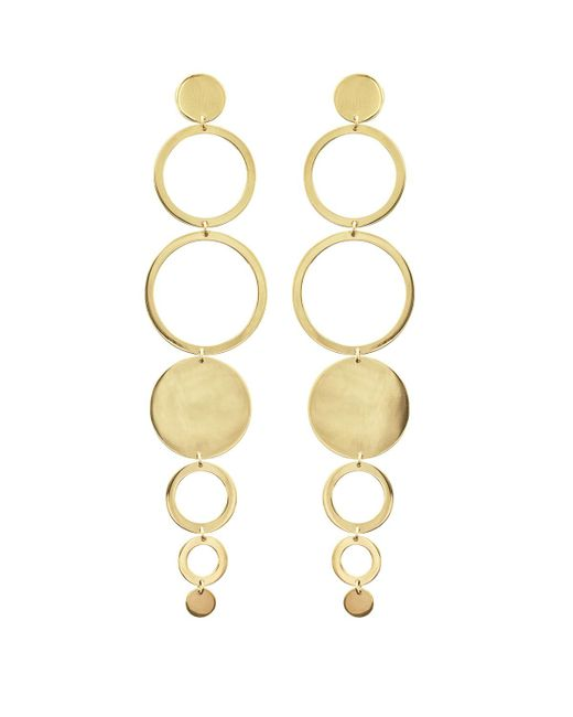 Lana Jewelry - Metallic Multi-circle Linear Drop Earrings - Lyst