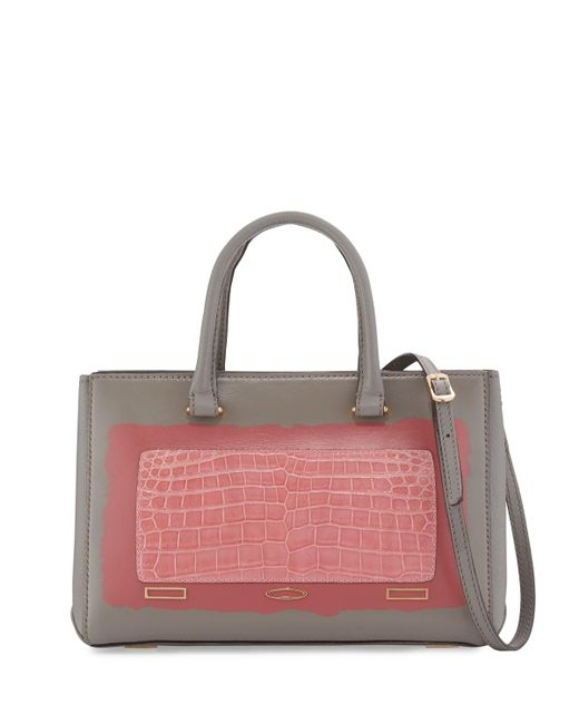 VBH - Multicolor Pandora Demi Vitello & Crocodile Small Tote Bag - Lyst