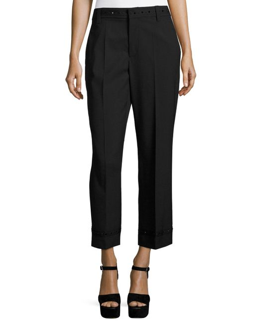 Marc Jacobs   Black Studded Straight-leg Trousers   Lyst