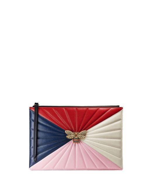 Gucci | Multicolor Colorblock Fly Zip Wristlet Pouch Bag | Lyst