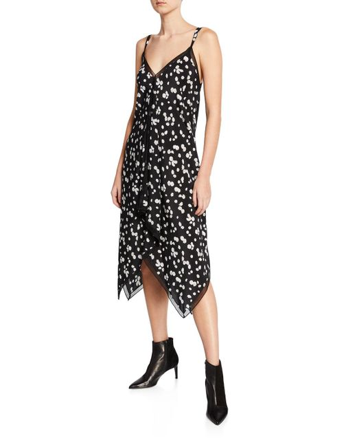 Jason Wu - Black Spring Daisy Handkerchief Hem Dress - Lyst