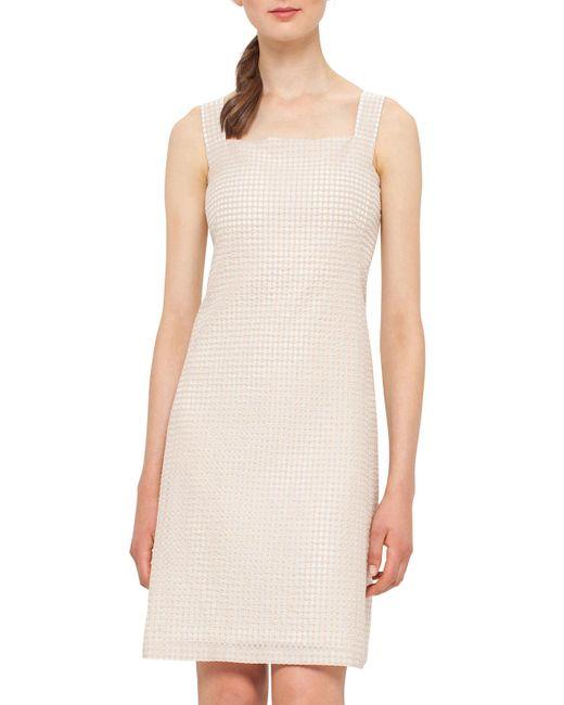 Akris   Multicolor Sleeveless Check Sheath Dress   Lyst