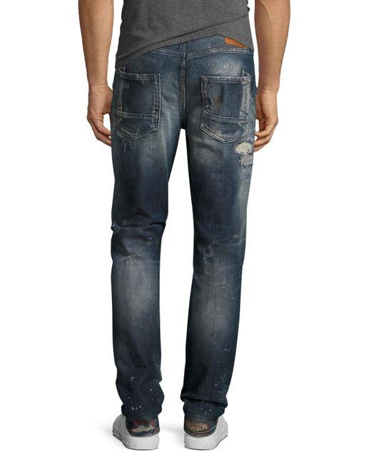 3a7de6fb583 ... PRPS - Blue Demon Distressed Slim-straight Jeans for Men - Lyst ...