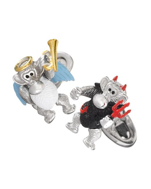 Jan Leslie - Metallic Devil & Angel Monkey Cuff Links for Men - Lyst