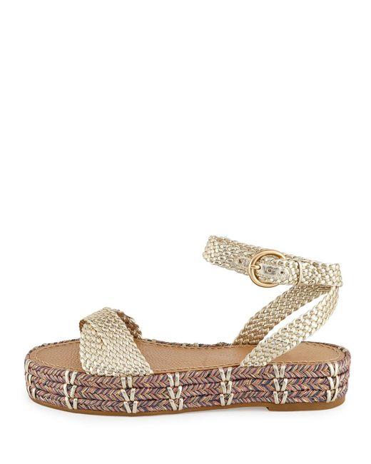 6fd2e91c8816 Sigerson Morrison. Women s Metallic Jaiyce Braided Leather Platform Sandals