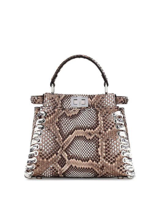 Fendi | Multicolor Peekaboo Small Whipstitch Satchel Bag | Lyst