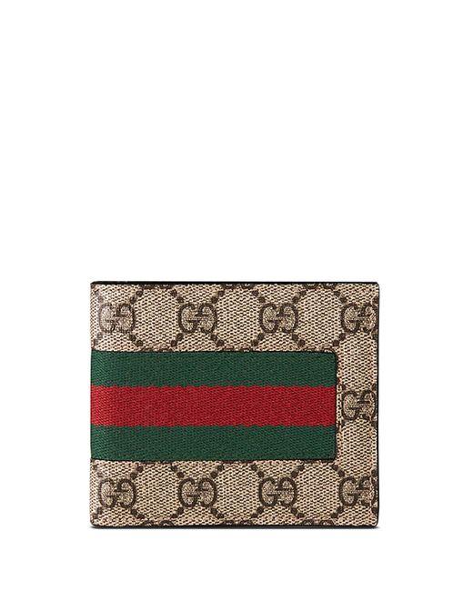 51407f79079 Gucci - Brown Web GG Supreme Canvas Wallet - Lyst ...