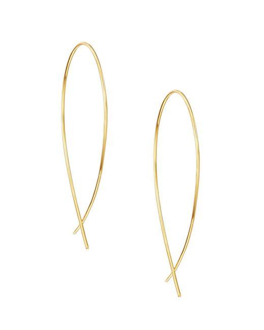 Lana Jewelry - Metallic Small Upside Down Hoop Earrings - Lyst