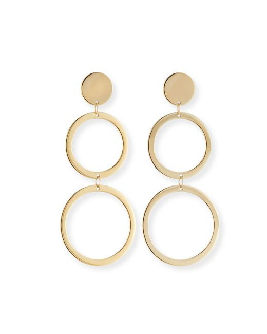Lana Jewelry - Metallic Fifteen 14k Double-drop Earrings - Lyst