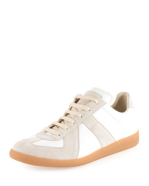 Mens Mens Replica Leather & Suede Sneakers Maison Martin Margiela rI5byD