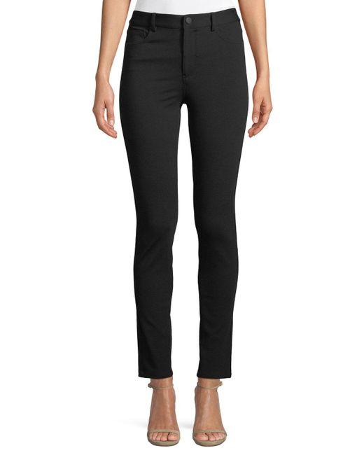 Theory - Black Fixture Ponte Five-pocket Straight-leg Pants - Lyst