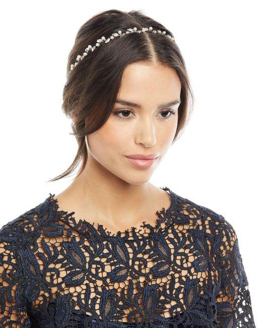 Jennifer Behr - Metallic Lina Swarovski® Crystal & Pearl Circlet Headband - Lyst