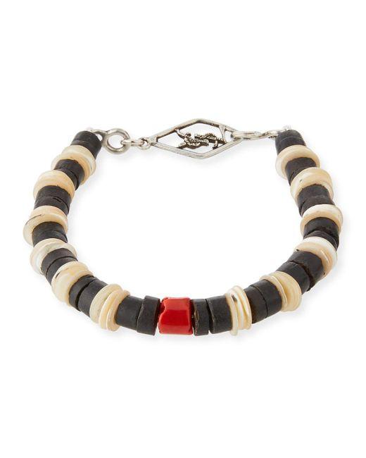 Saint Laurent - Metallic Men's Shell Bracelet With Coral for Men - Lyst