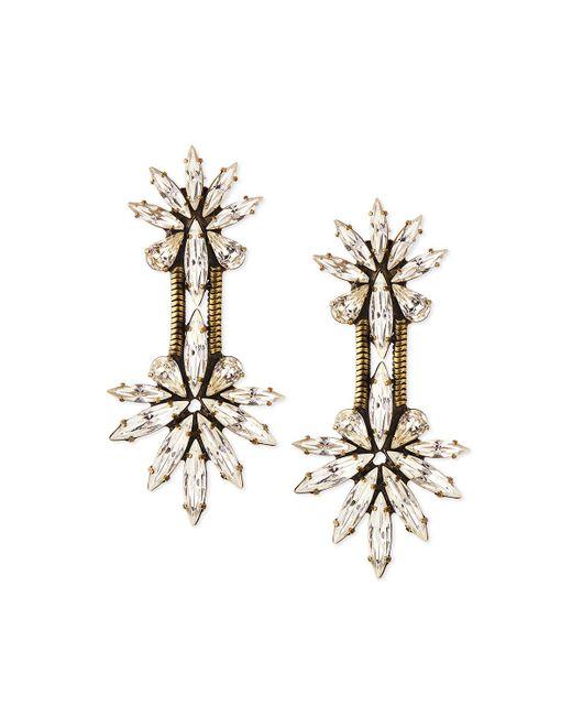 Auden - Metallic Devon Crystal Chain Drop Earrings - Lyst