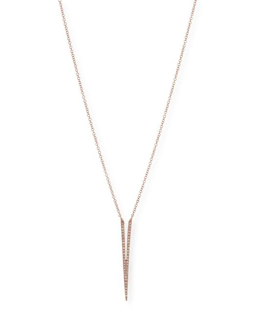 EF Collection - Pink Split Dagger Diamond Pendant Necklace - Lyst