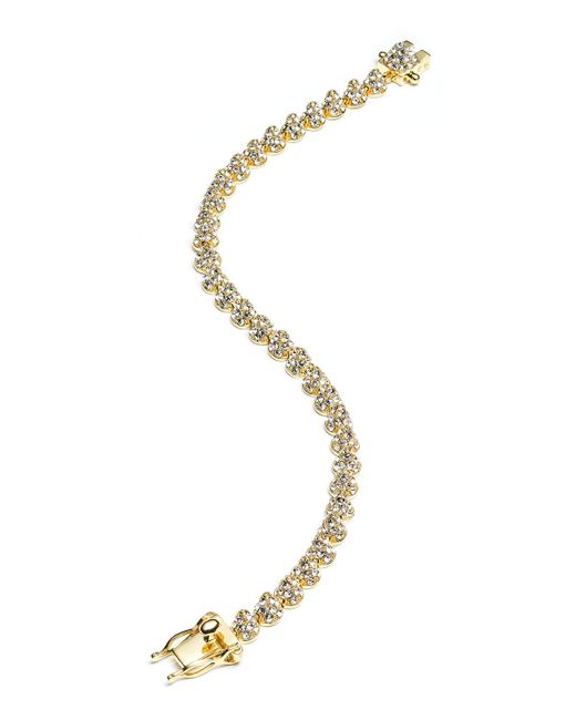 Eddie Borgo | Metallic Yellow Gold Plated Pave Crystal Mini Cone Bracelet | Lyst