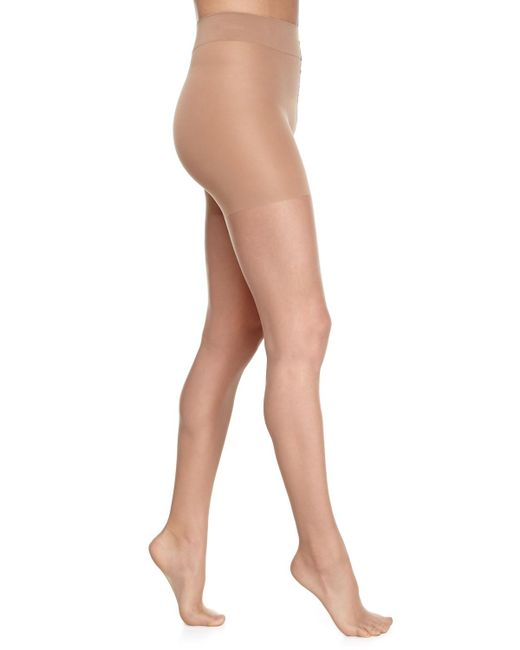 Wolford   Natural Luxe 9 Control Top Tights   Lyst