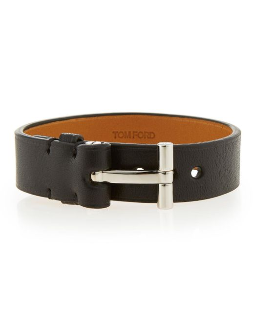 Tom Ford | Black Nashville Men's Leather Bracelet for Men | Lyst