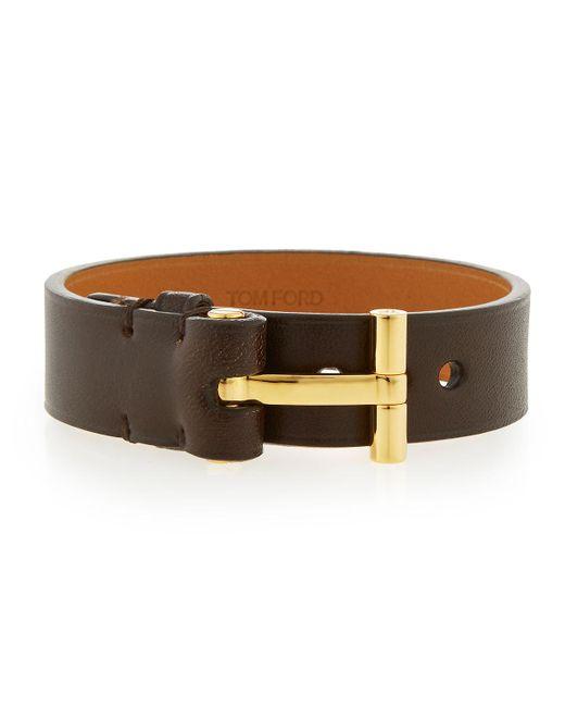 Tom Ford | Brown Nashville Men's Leather Bracelet | Lyst