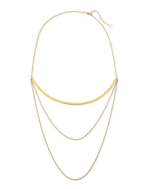 Jennifer Zeuner | Metallic Kendall Multi-chain Choker Necklace | Lyst