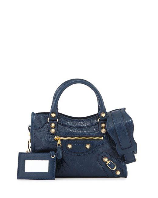 Balenciaga | Blue Giant 12 City Mini Lambskin Tote Bag | Lyst