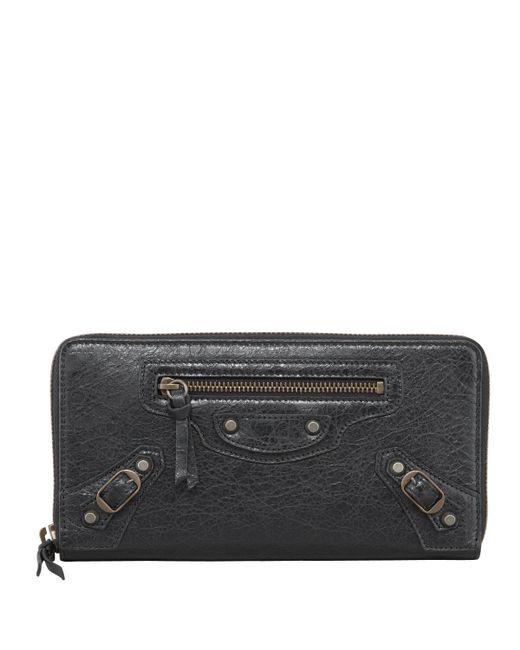 Balenciaga | Black Classic Continental Zip Wallet | Lyst