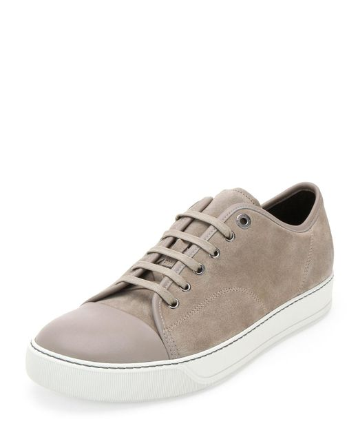 Lanvin | Natural Contrasted Toe Cap Sneakers for Men | Lyst