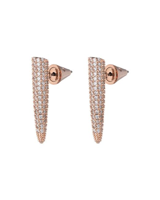 Eddie Borgo | Metallic Pave Crystal Mini Spike Earrings | Lyst