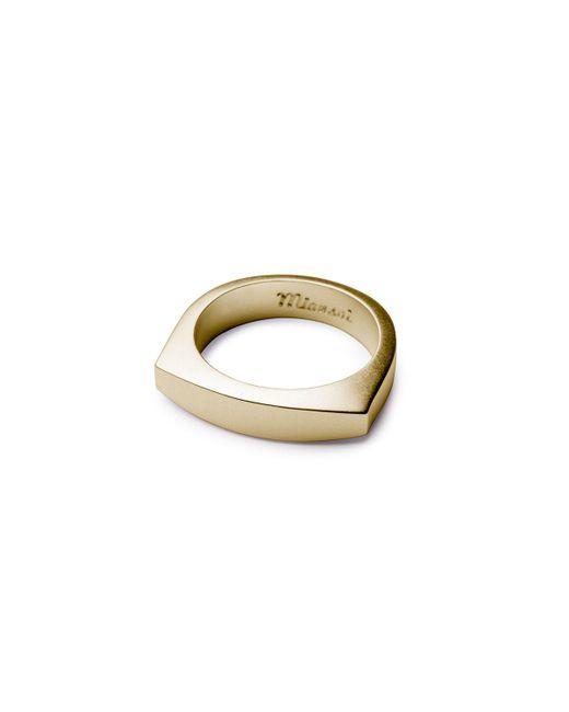 Miansai | Metallic Men's Brushed Golden Flat-top Ring for Men | Lyst