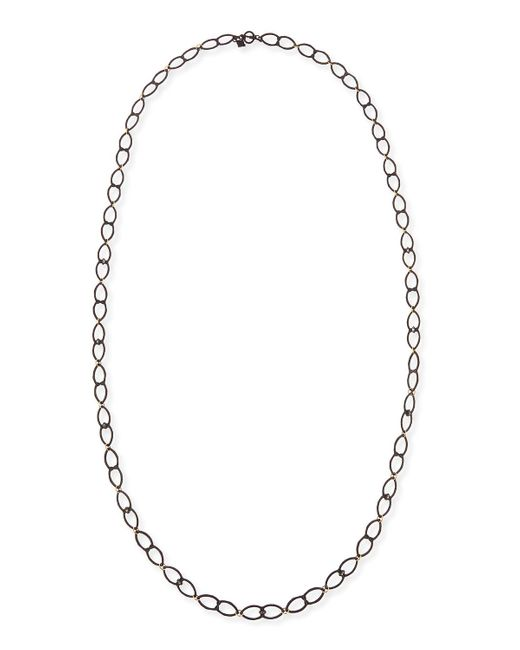 Armenta | Metallic Old World Open Shield Link Necklace | Lyst