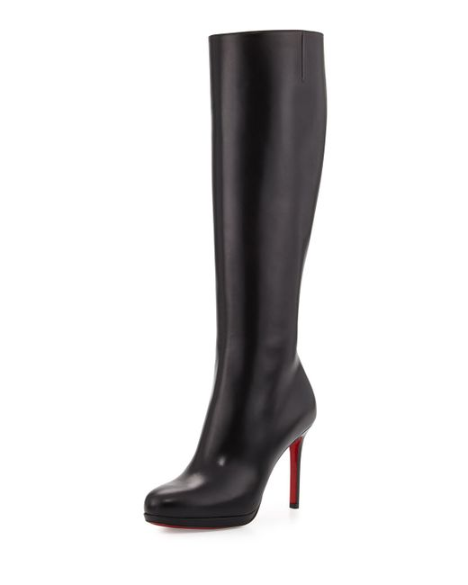 Christian Louboutin | Brown Botalili Leather Red-sole Knee Boot | Lyst