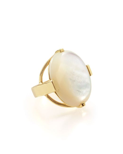 Ippolita | White 18k Rock Candy Large Mother-of-pearl Oval Ring | Lyst