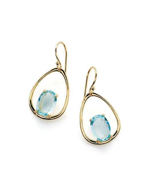 Ippolita   Metallic 18k Rock Candy Wire Earrings In Mother-of-pearl   Lyst